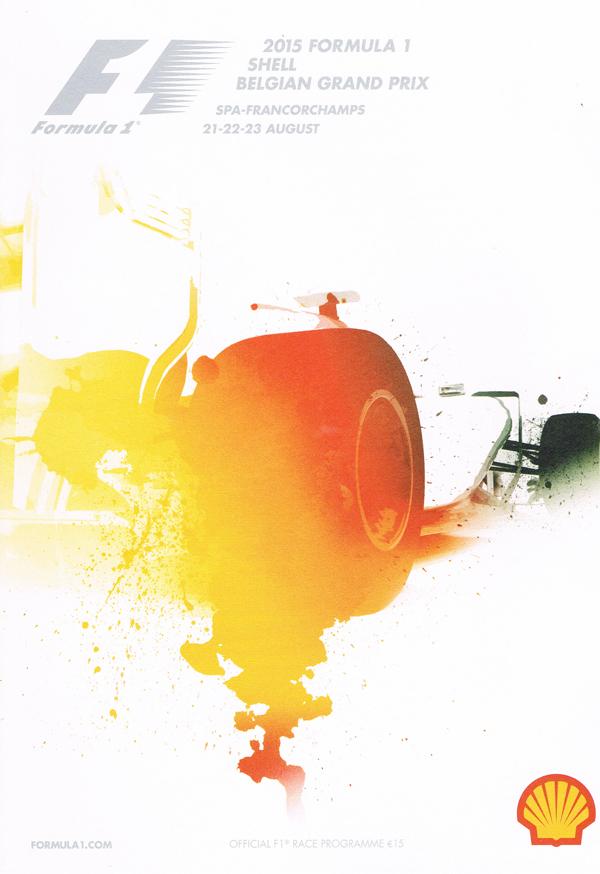 F1公式プログラム 2015年ベルギーGP