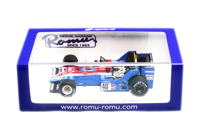 "MODEL GARAGE ROMU別注 スパーク 1/43 スピリット ホンダ 201C  S.ヨハンソン 1983年ヨーロッパGP 限定300台 ""スピリットホンダ ラストレース"""