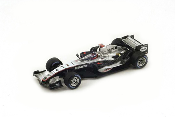 スパーク 1/43 マクラーレン MP4-20 J.P.モントーヤ 2005年イギリスGP優勝 No.10