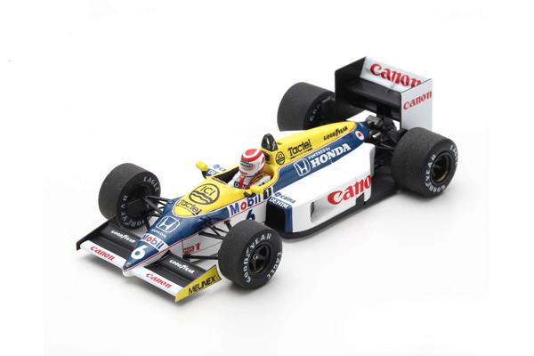 スパーク 1/43 ウィリアムズ FW11 N.ピケ 1986年ブラジルGP優勝 No.6