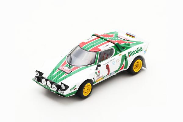 スパーク 1/43 ランチア ストラトス HF 1977年ラリー モンテカルロ 優勝 S.ムナーリ-S.マイガ No.1