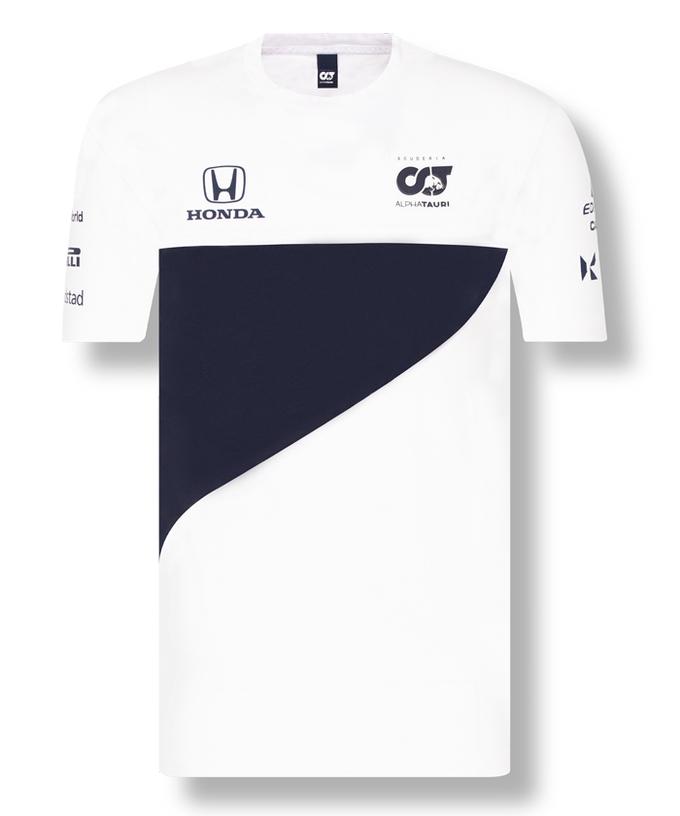 2021アルファタウリ・ホンダ チームTシャツ ホワイト