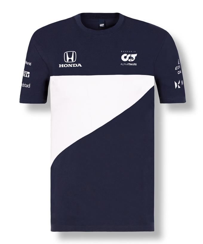 2021アルファタウリ・ホンダ チームTシャツ ネイビー