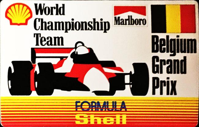 マルボロ (Marlboro)&シェル(Shell) 1990年代 ベルギーGP プロモーションステッカー