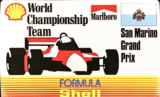 マルボロ (Marlboro)&シェル(Shell) 1990年代 サンマリノGP プロモーションステッカー