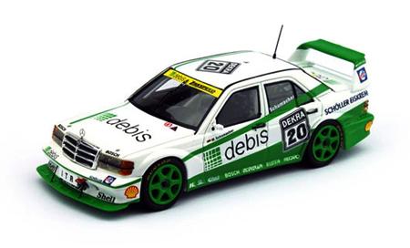 トゥルースケール 1/43 メルセデスベンツ 190E EVO2 M.シューマッハ 1991 DTM NO.20 Zakspeed Mercedes
