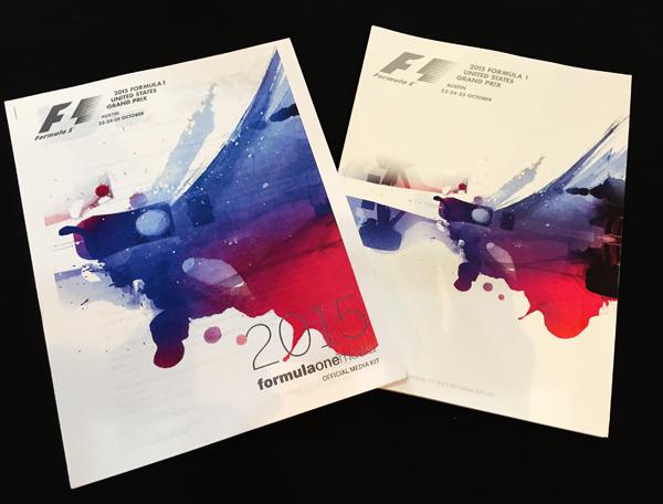 F1公式プログラム 2015年アメリカGP(メディアキット付・カバー無し)