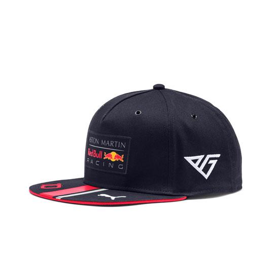 【再入荷】2019 PUMA ASTON MARTIN REDBULL RACING レッドブル P.ガスリー ドライバーズキャップ(フラットタイプ)