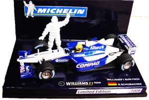 【SALE】ミシュラン別注 ミニチャンプス  1/43  ウィリアムズ FW24 ラルフ 1008台限定