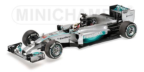ミニチャンプス 1/18 メルセデス W05 L.ハミルトン 中国GP ウィナー 2014