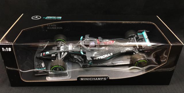 ミニチャンプス 1/18  メルセデス F1 W11 L.ハミルトン トルコGP 2020 ウィナー 7回目 ワールドタイトル記念(ウェザリング塗装)