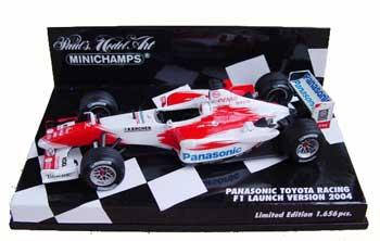 ミニチャンプス 1/43 TOYOTA(トヨタ) F1 2004年ショーカー NOドライバー NOゼッケン