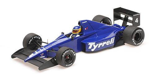 ミニチャンプス 1/18 ティレル フォード 018 M.アルボレート メキシコGP 1989 3位入賞