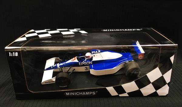 ミニチャンプス 1/18 ティレル フォード 018 中嶋 悟 1990年アメリカGP 6位