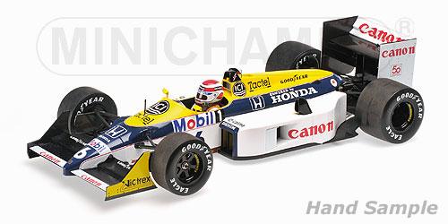 ミニチャンプス 1/18 ウィリアムズ ホンダ FW11B N .ピケ ワールドチャンピオン 1987