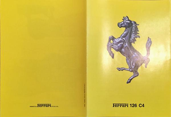 1984年 FERRARI(フェラーリ) 126 C4 F1マシンスペックカタログ
