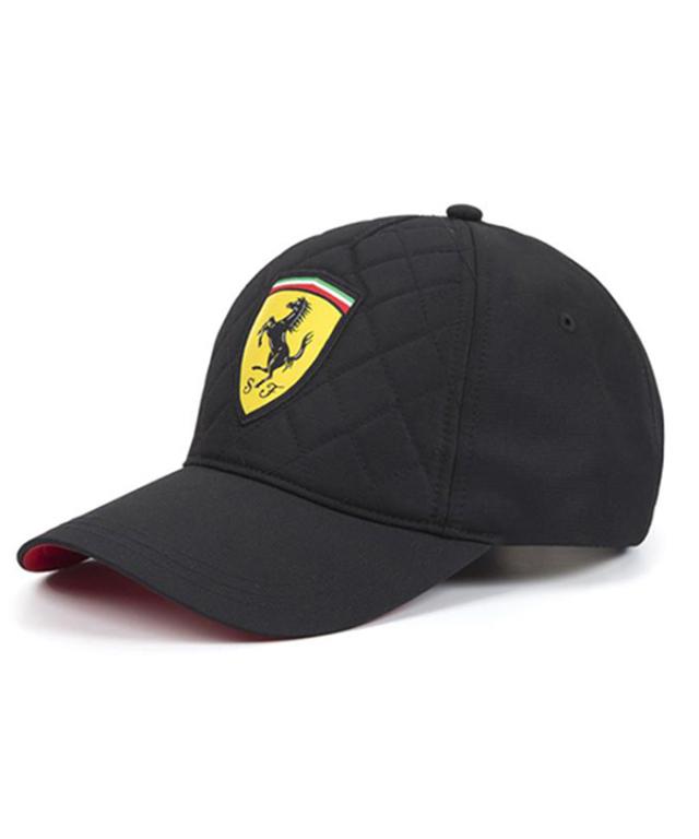 フェラーリ SF キルティング ワンポイントキャップ ブラック