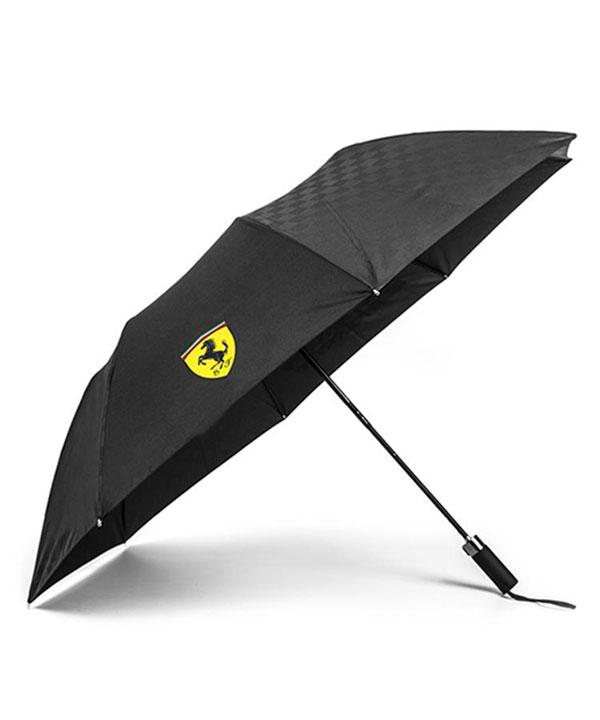 【再入荷】フェラーリ SF コンパクトアンブレラ(折りたたみ傘) ブラック サイズ:44cm