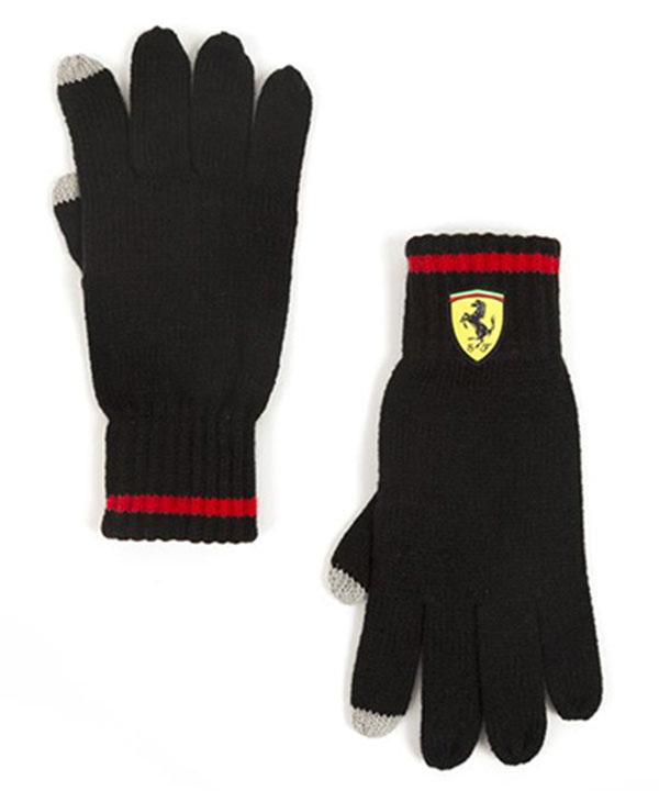 2018SS フェラーリ SF ニットグローブ(手袋) ブラック