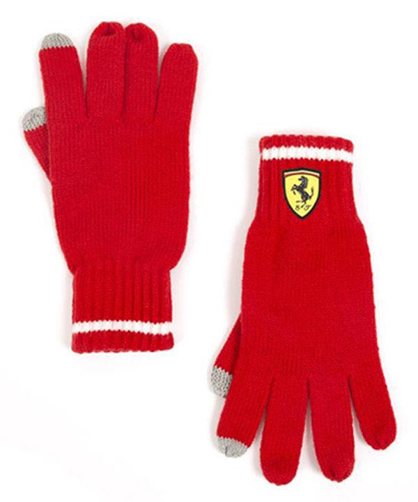 2018SS フェラーリ SF ニットグローブ(手袋) レッド