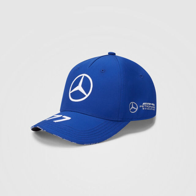 2020 MERCEDES メルセデスF1 チーム V.ボッタス ドライバーズキャップ(ベースボール)ブルー