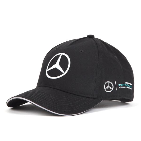 2017 メルセデスベンツAMGペトロナスF1チーム L.ハミルトン ドライバーズ BASEBALLキャップ ブラック