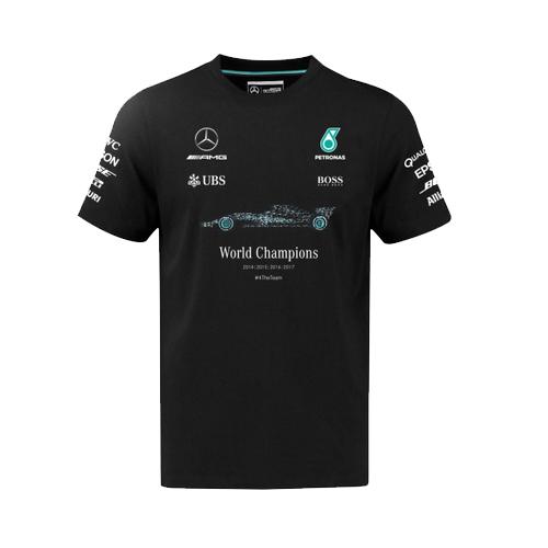 2017 メルセデス F1 ワールドチャンピオン限定 Tシャツ