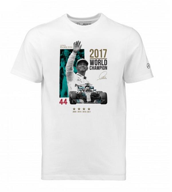 2017 L.ハミルトン F1 ワールドチャンピオン限定 Tシャツ サイズXL