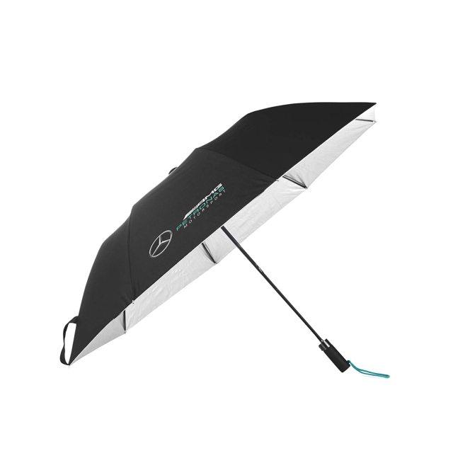 2021-2020(継続商品)MERCEDES メルセデスF1 チーム コンパクトアンブレラ(折りたたみ傘)