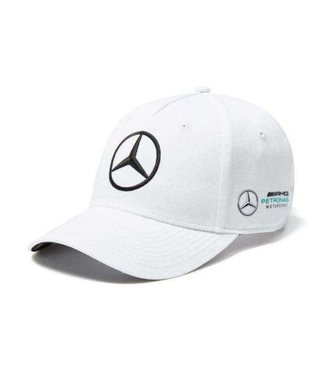 2018SS メルセデスベンツAMGペトロナスF1 V.ボッタス ドライバーズキャップ ホワイト ベースボールキャップver
