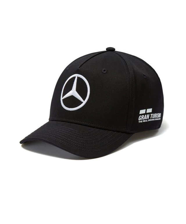 2018SS メルセデスベンツAMGペトロナスF1 L.ハミルトン ドライバーズキャップ ブラック ベースボールキャップver