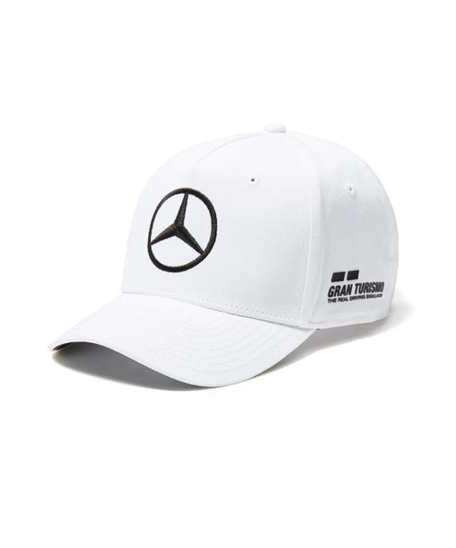 2018SS メルセデスベンツAMGペトロナスF1 L.ハミルトン ドライバーズキャップ ホワイト ベースボールキャップver