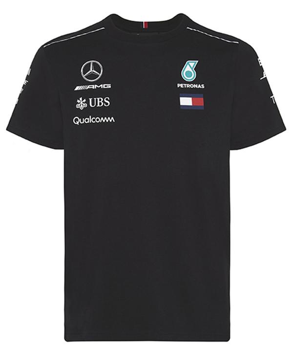 2018 メルセデスベンツAMGペトロナスF1 チームTシャツ ブラック