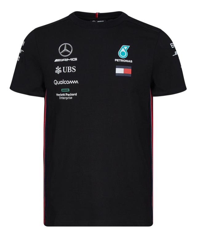 MERCEDES 2019 メルセデスベンツAMGペトロナスF1 チームドライバーズTシャツ ブラック