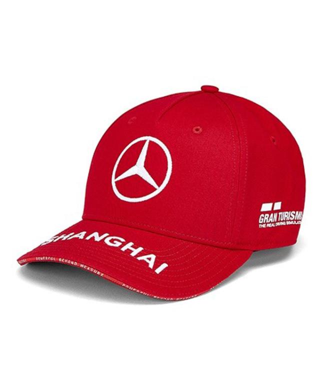 MERCEDES 2019 中国GP限定 メルセデスベンツAMGペトロナスF1 L.ハミルトン ドライバーズベースボールキャップ レッド