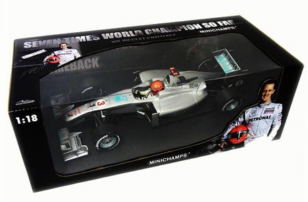 【サマーSALE】ミニチャンプス 1/18 メルセデスGP 2010ショーカー M.シューマッハ カンバック限定パッケージ