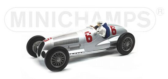 ミニチャンプス 1/18 メルセデス ベンツ W125 R.カラツィオラ1937 アイフェル ニュルブルクリンク 2位 No.6
