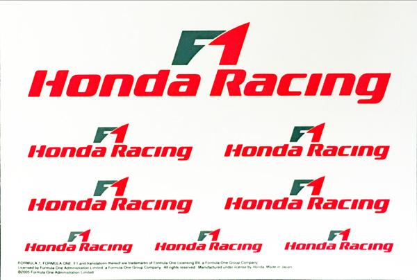 ホンダ F1 レーシング 2005 プロモーションステッカーセット サイズ:10×14.5cm