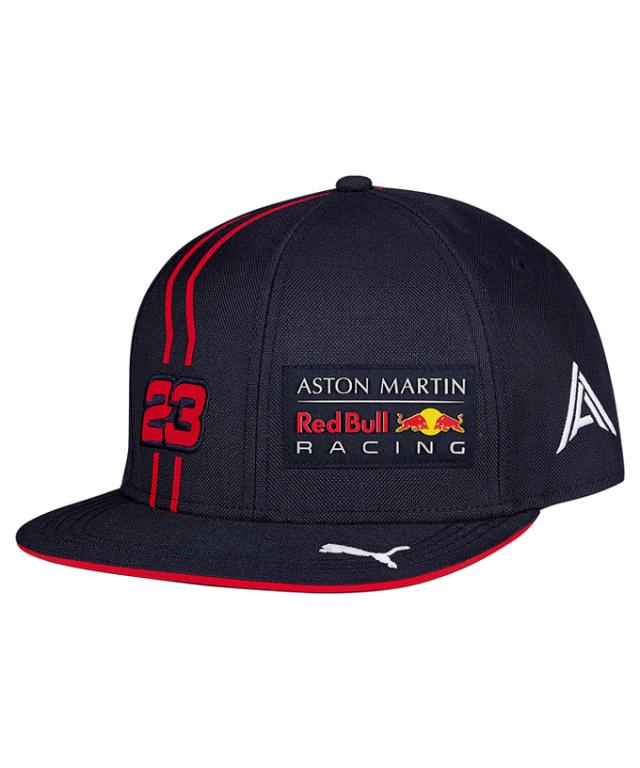 2020 PUMA ASTON MARTIN REDBULL RACING レッドブル・ホンダ A.アルボン ドライバーズキャップ フラットタイプ