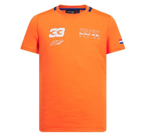 【並行輸入品】ASTON MARTIN REDBULL RACING レッドブルレーシング M.フェルスタッペン パーソナルTシャツ オレンジ 2019Ver