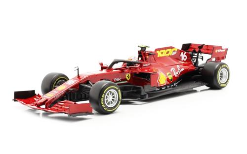 【並行輸入品】 BURAGO(ブラーゴ)1/18 フェラーリ SF1000 C.ルクレール 2020年トスカーナGP(ドライバーフィギュア付)