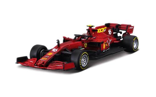 【並行輸入品】 BURAGO(ブラーゴ)1/43 フェラーリ SF1000 C.ルクレール 2020年トスカーナGP(ドライバーフィギュア付)