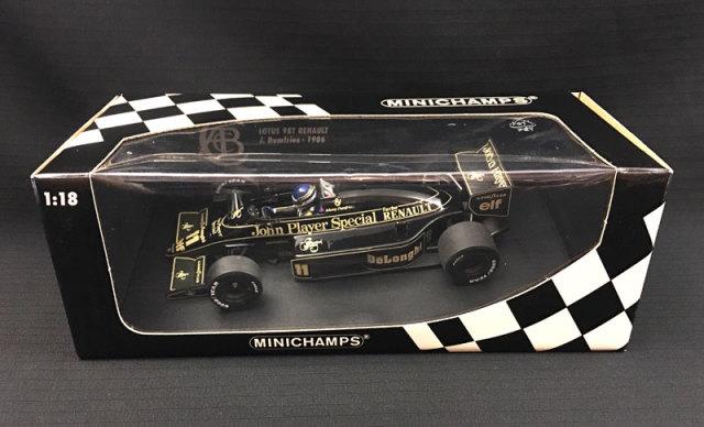 ミニチャンプス 1/18 ロータス ルノー 98T ジョニー・ダンフリーズ 当店オリジナルタバコロゴモデル
