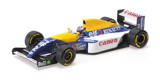 【2021年6月以降順次再生産予定ご予約商品3/12締切】【再生産】ミニチャンプス180930002 1/18 ウィリアムズ ルノー FW15C A.プロスト 1993ワールドチャンピオン