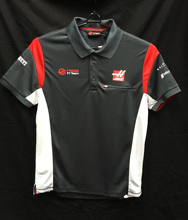 ハースF1チーム 2017 チーム支給品 ポロシャツ 新品タグ付き サイズL (A)