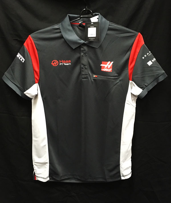 【SALE】ハースF1チーム 2017 チーム支給品 ポロシャツ 新品タグ付き サイズL (B)