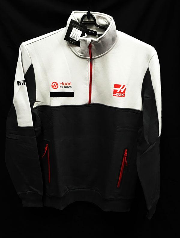 ハースF1チーム 2016 チーム支給品 ハーフZIPスウェット(裏地起毛付き) 新品タグ付き サイズXL