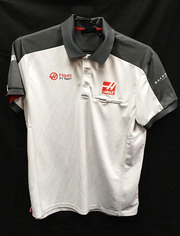 ハースF1チーム 2016 チーム支給品 ポロシャツ USED サイズXL (A)