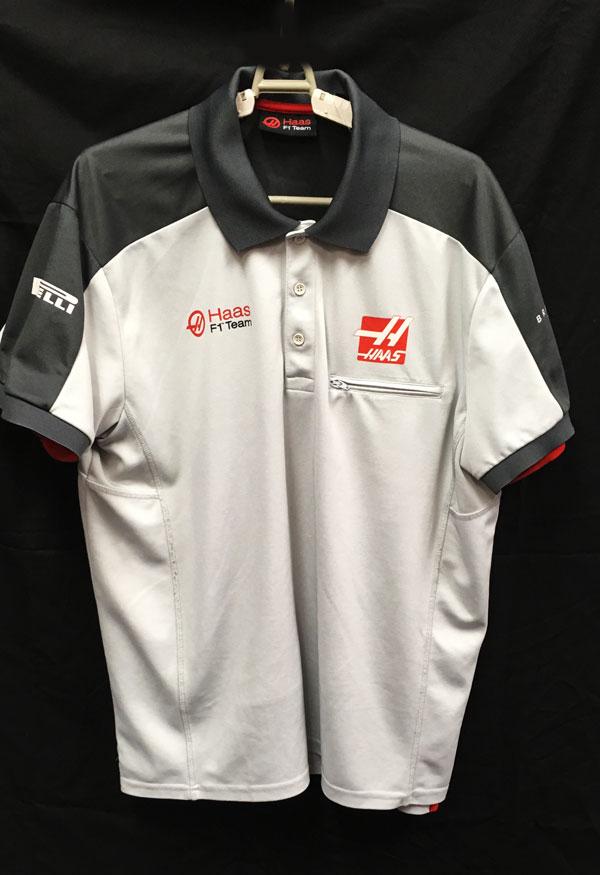 ハースF1チーム 2016 チーム支給品 ポロシャツ USED サイズXL (B)
