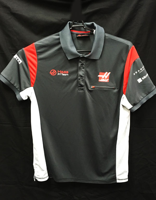 【SALE】ハースF1チーム 2017 チーム支給品 ポロシャツ USED サイズL (B)